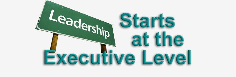 Leadership starts at the Executive level