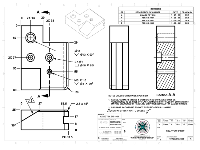 Introduction to mechanical drawings gdt sample pages malvernweather Image collections